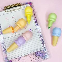 [맙소사잡화점] 아이스크림 콘 형광펜 3종 세트