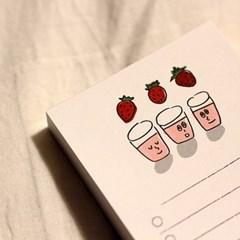 딸기 우유 체크리스트