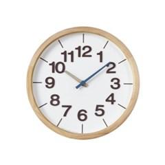 폰트원목벽시계(블루)