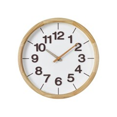 폰트원목벽시계(오렌지)