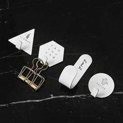 마이 레터링 접착식 후크 4p(화이트)/스텐 벽고리