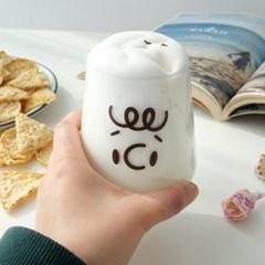 모애 레트로감성 홈카페 디자인 유리컵 후엠아이2C 425ml 1개
