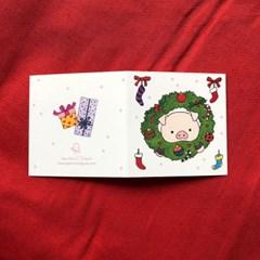 크리스마스 피그 미니카드