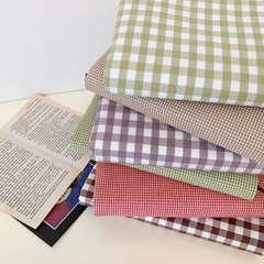 check fabric book cover (6colors)
