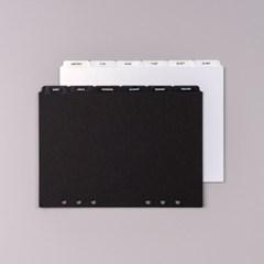 A5 6공 바인더 다이어리 종이 인덱스 디바이더탭