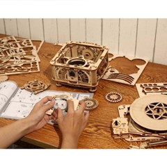 [ROBOTIME DIY] LKB01 가동되는 턴테이블 레코드 축음기