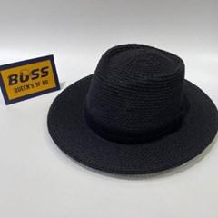 검정띠 지사 챙넓은 데일리 꾸안꾸 패션 페도라 모자