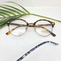 가벼운 도수없는 반테 호피 데일리 패션 안경
