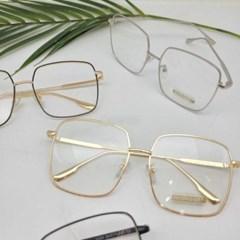 사각 투명한 가벼운 도수없는 골드 데일리 패션 안경