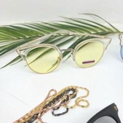 반테 도수없는 가벼운 핑크 데일리 패션 선글라스