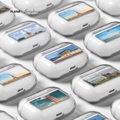 PLANA 세계여행 시리즈 에어팟 프로 TPU 투명 케이스