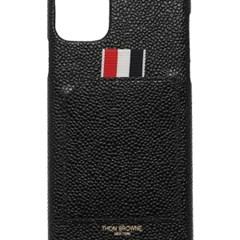 톰브라운 아이폰11 프로 맥스 케이스 블랙 페블 그레인 레더