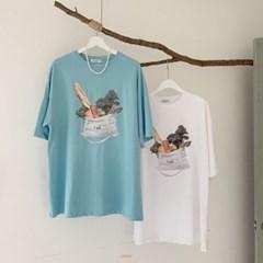 야채 반팔 티셔츠