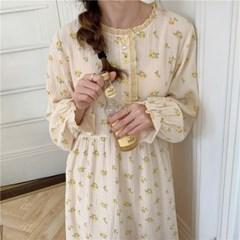 요루면잠옷 원피스 와일드플라워 여성 파자마 홈웨어 (2 colors)