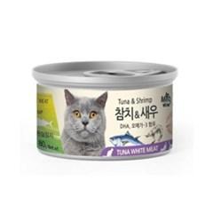 미우와우 흰살 참치&새우80gX24개(1박스)_(777017)