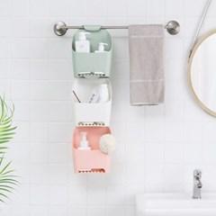걸이형 욕실 용품 정리함 3color