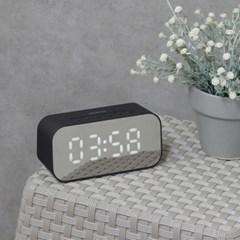 미러 블루투스 스피커 MS100 라디오 탁상시계