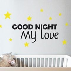 Good night my love 감성 레터링 인테리어 스티커