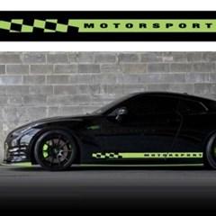 자동차 튜닝 시트지 랩핑 모터 체크 라인 데칼 스티커