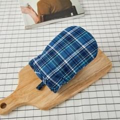 [모던하우스] L 빈티지코튼 블루체크 주방장갑