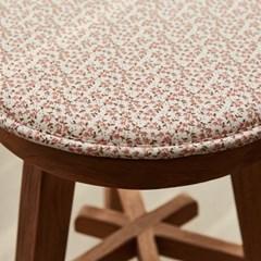 [모던하우스] L 여리여리한 잔꽃 원형벤치방석 핑크 33R