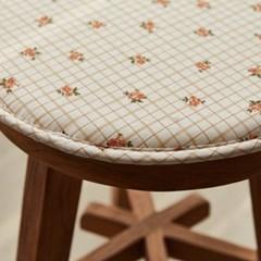 [모던하우스] L 빈티지무드 잔꽃 원형벤치방석 오렌지 3