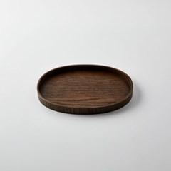 [모던하우스] L 물푸레나무 작은 타원쟁반 다크브라운