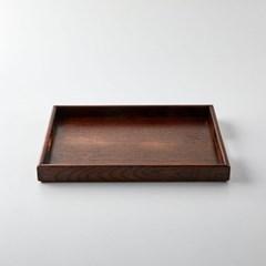 [모던하우스] L 물푸레나무 직사각 핸들쟁반 다크브라운
