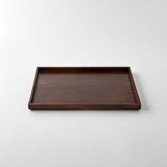 [모던하우스] L 물푸레나무 직사각 쟁반 다크브라운 40X