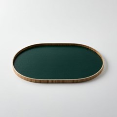 [모던하우스] L 물푸레나무 초록 타원쟁반 내츄럴