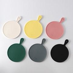 트레노 원형 실리콘 냄비받침 6color 선택
