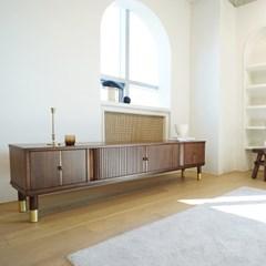 마루이 멜로우 슬라이드 골드 핸들 월넛 거실장 1800(착불)