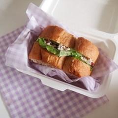 체크 유산지 왁스페이퍼 샌드위치 홈베이킹 식품포장지 50p