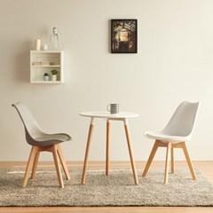 [스코나]캘러마 원목 원형 2인 식탁 세트(의자포함)_(602861539)