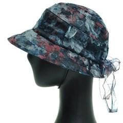KAU12.오간자 플라워 중년 여성 벙거지 모자 버킷햇