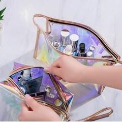 화장품파우치 홀로그램가방 PVC파우치 메이크업