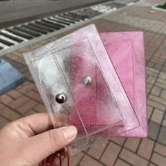 [맙소사잡화점] 투명 글리터 포켓 카드 지갑
