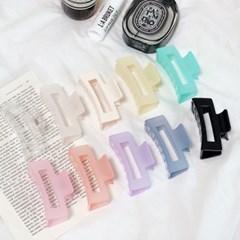 [1+1][10color] 여리여리 파스텔 색감 사각 헤어 집게핀