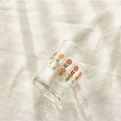 [모던하우스] L 빈티지 오렌지플라워 유리컵 오렌지 245