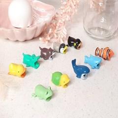 충전케이블 단선현상 방지 귀여운 동물모양 케이블 보호캡