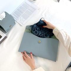 11인치 태블릿 가죽 파우치 클러치백 겸용