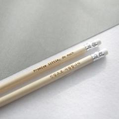 나미브 지우개 원목연필 Eraser Wood Pencil 5본입 세트-메시지각인