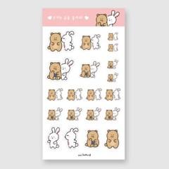 토끼는곰을좋아해 스티커