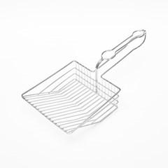 메탈 고양이 모래삽 8mm 마레 화장실 배변 용품 모래 스_(1420761)
