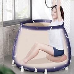 욕조 사우나 접이식욕조 1인용욕조 휴대용 항아리튜브
