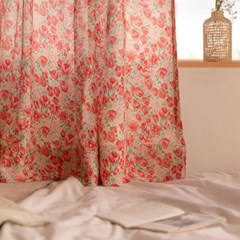 런던 프리지아 핑크 쉬폰커튼 3size