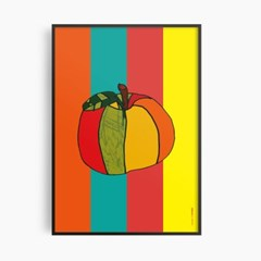 [키뮤스튜디오] A1 아트포스터: 레인보우 펌킨