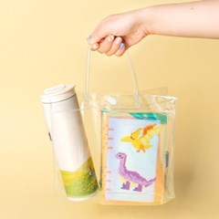 PVC 투명 비치백 비닐 가방 만들기 꾸미기