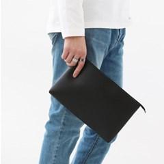 남자 여자 남녀공용 세컨백 심플한 기본 클러치백