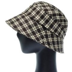 KKU05.타탄체크 여성 벙거지 모자 버킷햇 봄 여름 챙모자
